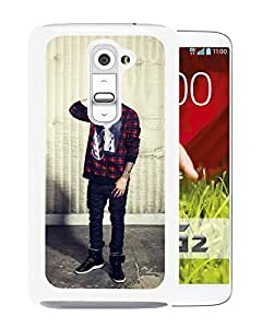 Fashionable Custom Designed Cover Case For LG G2 With justin bieber 1 White Phone Case