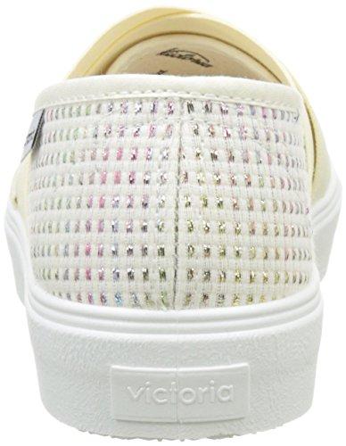 Victoria Copete Lurex Elas. Cruzados, Baskets Basses Femme Multicolore (Multicolor)
