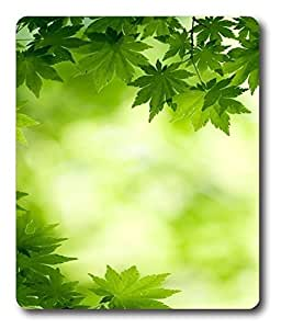 customizable mouse mats Green leaf Japanese maple PC Custom Mouse Pads / Mouse Mats Case Cover