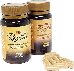 DISPONIBLE EN NUESTRA WEB - Cápsulas vegetales de polvo puro de reishi - 2 Frascos - 60 cápsulas ENVIO GRATIS A ESPAÑA!!