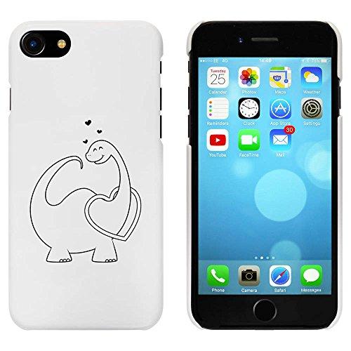 Blanc 'L'amour Dinosaure' étui / housse pour iPhone 7 (MC00071700)