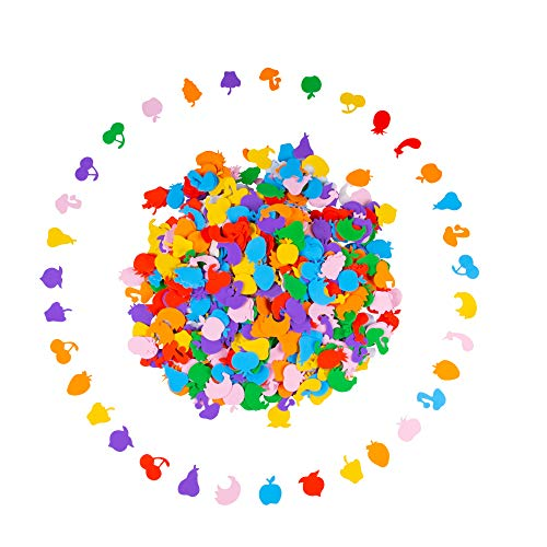 (Foam Stickers - 700-Piece Self-Adhesive Foam Shapes, Fruit Shape Kids DIY Arts and Crafts Supplies,)