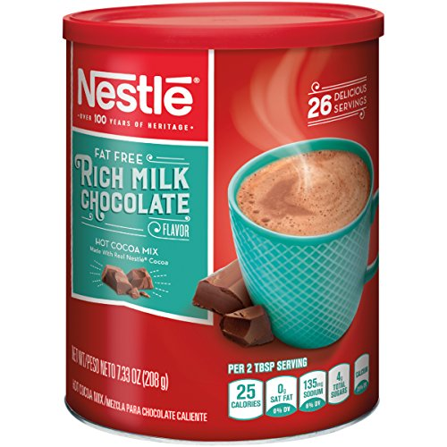 (Nestle Hot Cocoa Mix, Fat Free, 7.33-Ounce Canisters (Pack of 4))