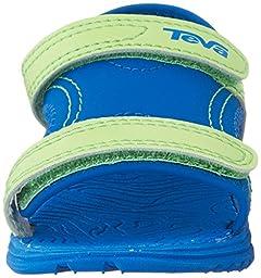 Teva Psyclone 6 Sandal (Toddler/Little Kid), Blue/Lime, 6 M US Toddler