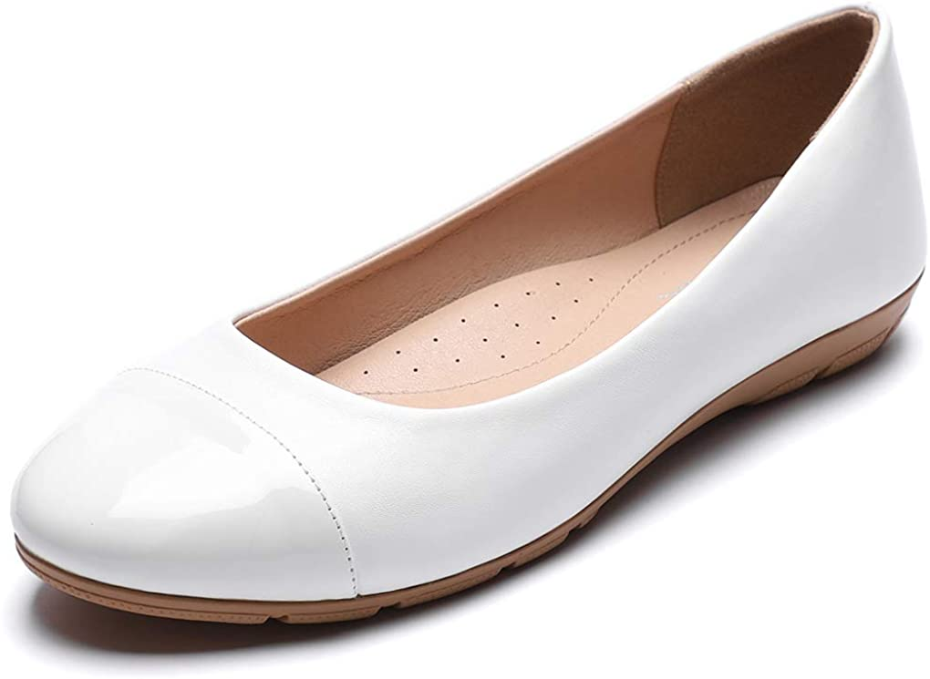 Women/'s Classic Round Toe Slip on Ballet Flat Shoes Comfort Casual Walking Shoes