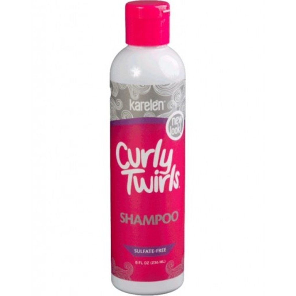 Curly Twirls Sulfate-free Shampoo for Curly Hair 8 Oz. Bottle