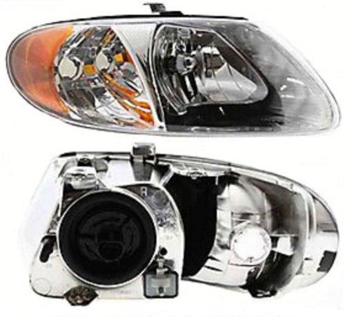 Discount Starter and Alternator CH2503129 Dodge Caravan Passenger Side Replacement Headlight Plastic Lens With Bulbs (Dodge Headlight Caravan Lens)