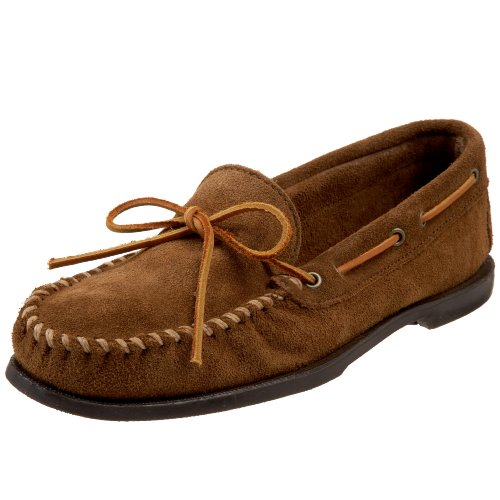 Classic Mens Moccasin - Minnetonka Men's Classic Camp Moccasin,Dusty Brown,13 W US