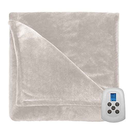 Serta 856603 Heated Electric Warming Silky Plush Blanket Thr