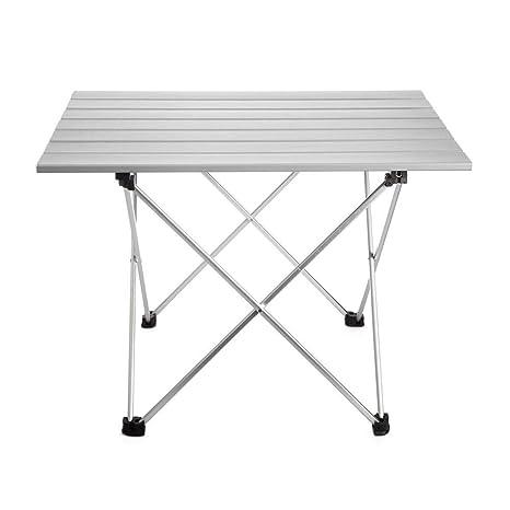 LYFHL-Folding table Mesa de Camping Plegable de Aluminio, Mesa de ...