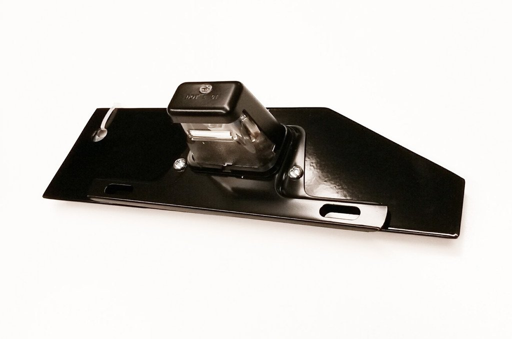 HPC Hummer H2 license plate relocation bracket with light Hummer Parts Club