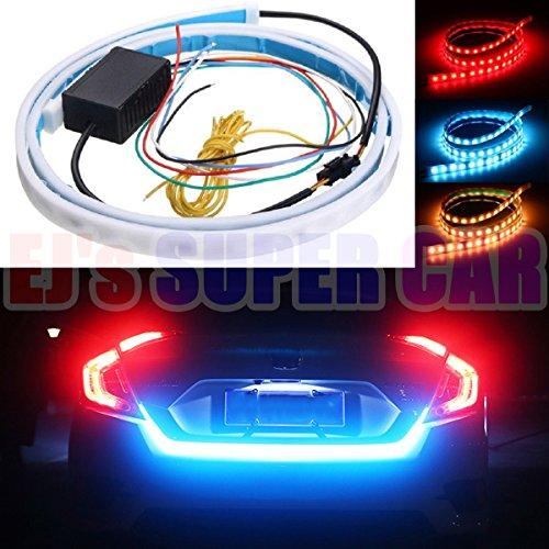 - EJ's SUPER CAR Tailgate Led Strip Light,Car Rear Tail Box Lights/Streamer Brake Turn Signal/LED Lamp Strip Waterproof,LEDs Strips Car Braking light car-styling,Red and blue colour free switch