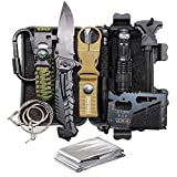 TRSCIND Christmas Birthday Xmas Gift for Him Men Dad Boyfriend, 11-in-1 Survival Gear Kits with Paracord Bracelet, Multi-Purpose EDC Emergency Tools and Everyday Carry Gear, Official Survival Kit