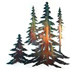 Pine Tree Stand - Large Metal Wall Art Sculpture