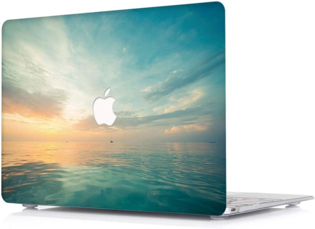 L2W Coque pour Apple MacBook 12 Pouces Mod/èle A1931//A1534 Ordinateur Portable Accessoires Plastique Rigide PU Cuir Protections /étuis,Briller D/ésign ` Noir