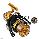 yugan Carbon Alloy Fishing Reel Front and Rear Double Drag Braking System Reel 9 + 1 Stainless Steel BB Rotating Fishing Spinning Wheel Fishing Reel