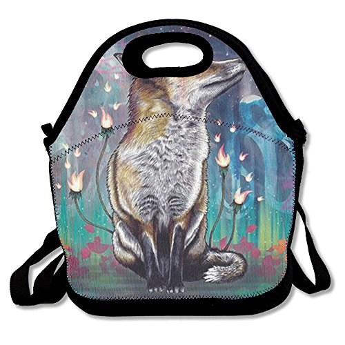 Yenba Fox Animal Designer Lunch Bags For Women Lunch Boxes Adults Lunch Tote (Fox Womens Body Rock)