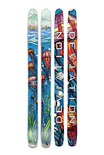 Rocker Custom Snowboard (Deviation Ski & Snowboard Works The Limit 193 Downhill Skis)