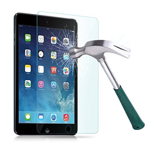 TANTEK Anti-Scratch, Anti-Glare, Anti-Fingerprint and Bubble-Free Tempered Glass Screen Protector for 7.9-Inch iPad Mini 1/2/3 - Clear