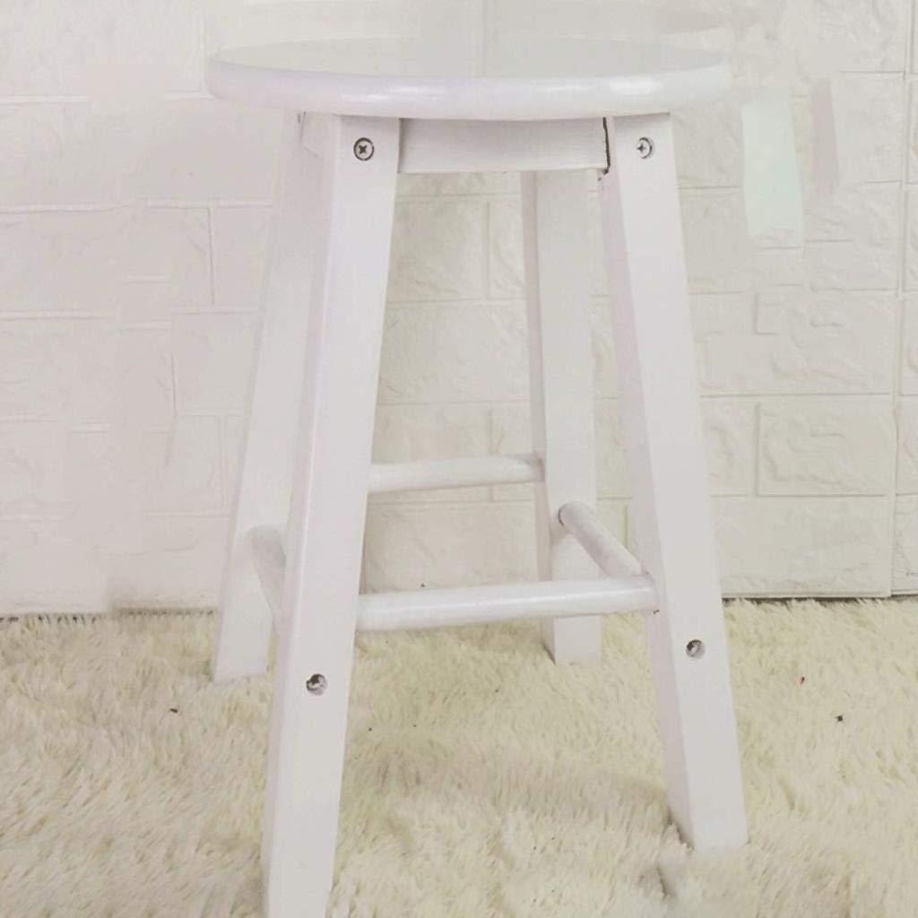 ソリッドウッド製スツールハイスツールステップスツールホームハイスツール木製ベンチバーチェアバースツールハイ木製ベンチハイベンチウッド ZHUXUM (Color : White45) B07STD54K9 White45