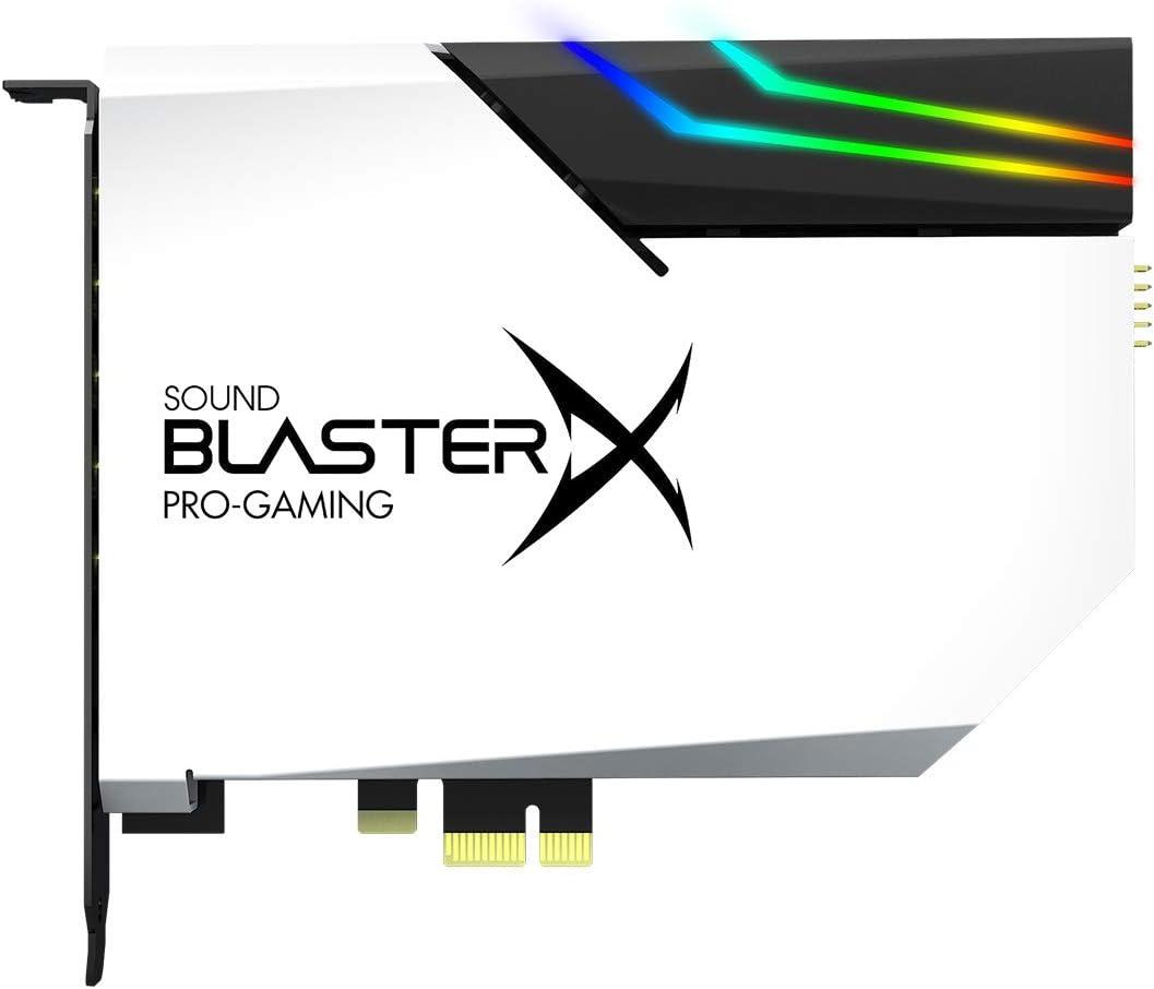 Tarjeta de Sonido y DAC Sound Blaster X AE-5 Blanca + LED