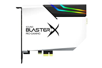 CREATIVE Sound BlasterX AE-5 Hi-Resolution PCIe Gaming Soundcard,  DAC/Headphone amp (up to 600 OHM) with RGB-LED lighting strip for  Computer/Gaming