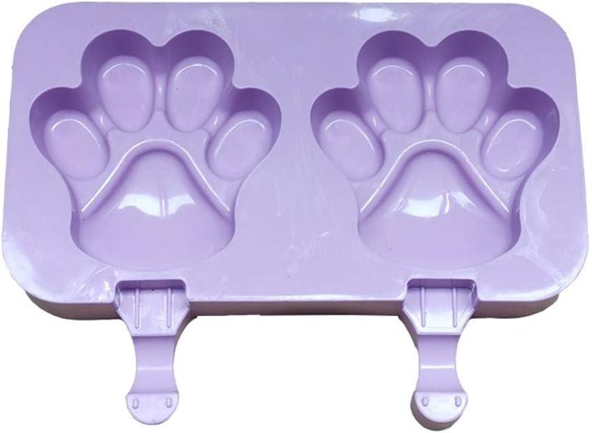Purple kolila Ice Cream Maker Molds,Mini Classic Shape Silicone Mold Popsicle Moulds for Ice Cream Pops for DIY Ice Cream with Popsicle Sticks 50 Wood Stick