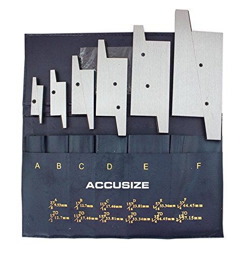 AccusizeTools - 6 Pair/Set Adjustable Precision Parallel Set, #EG02-5001 (Precision Parallel Set)
