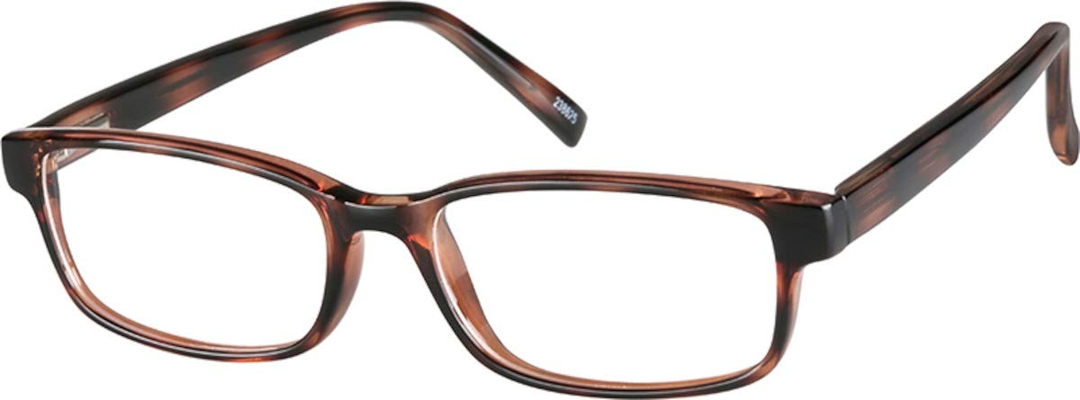 Zenni - Blokz Blue Blocker Computer Glasses | UV Filters Reduce Eyestrain | Tortoiseshell Frame | Classic Rectangle Fit | Model 238625