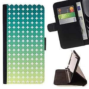 For Sony Xperia Z2 D6502 Case , Modelo del arte Verde Azul Blanco Estrellas- la tarjeta de Crédito Slots PU Funda de cuero Monedero caso cubierta de piel