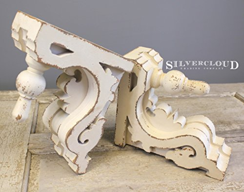 Silvercloud Trading Co. Architectural Corbels, Wall Shelf, Bookends - Large 11