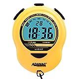 MARATHON ST083013YE Adanac Digital Glow Stopwatch Timer - Battery Included (Yellow)