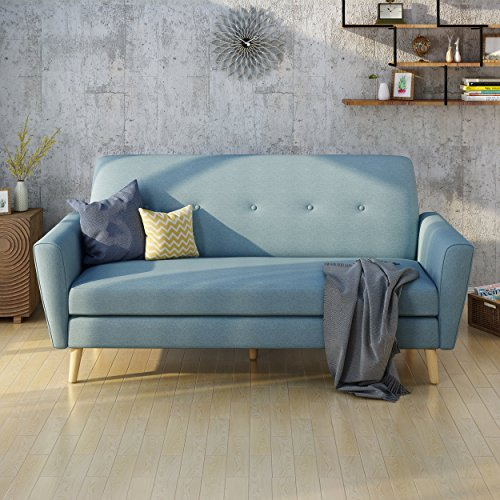 Christopher Knight Home 304457 Gretchen Couch, Blue and Natu