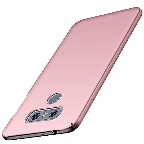 ORNARTO Funda LG G6, LG G6 Carcasa [Ultra-Delgado] [Ligera] Mate Anti-arañazos y Antideslizante Protectora Sedoso Caso para LG G6 (2017) 5.7 Oro Rosa