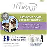 Hamilton Beach TrueAir Replacement Carbon Filter for Odor Eliminators, Neutralizes Pet Smells, 3-Pack (04234G)