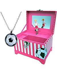 Just Like Me: Soccer Player Music Box with Blonde, Brown...