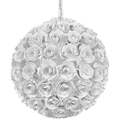 Crystorama 537-WW Leaf, Flower, Fruit One Light Mini Chandeliers from Cypress collection in Whitefinish,