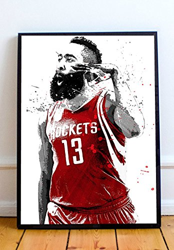75355fb1382a Amazon.com  James Harden Limited Poster Artwork - Professional Wall Art  Merchandise (More Sizes Available) (8x10)  Posters   Prints