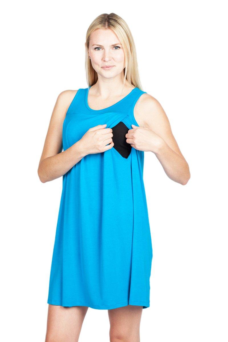 Savi Mom Nursing Nightgown/Dress USA Made Breastfeeding Soft Sleeve ...