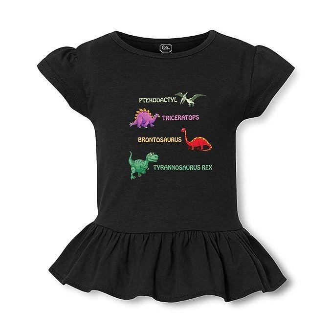 940c524aa01 Amazon.com: Dinosaurs Short Sleeve Toddler Cotton Girly T-Shirt Tee:  Clothing