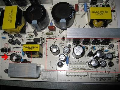 Repair Kit, LG 42LC7D-UK, LCD TV, Capacitors, Not The Entire Board