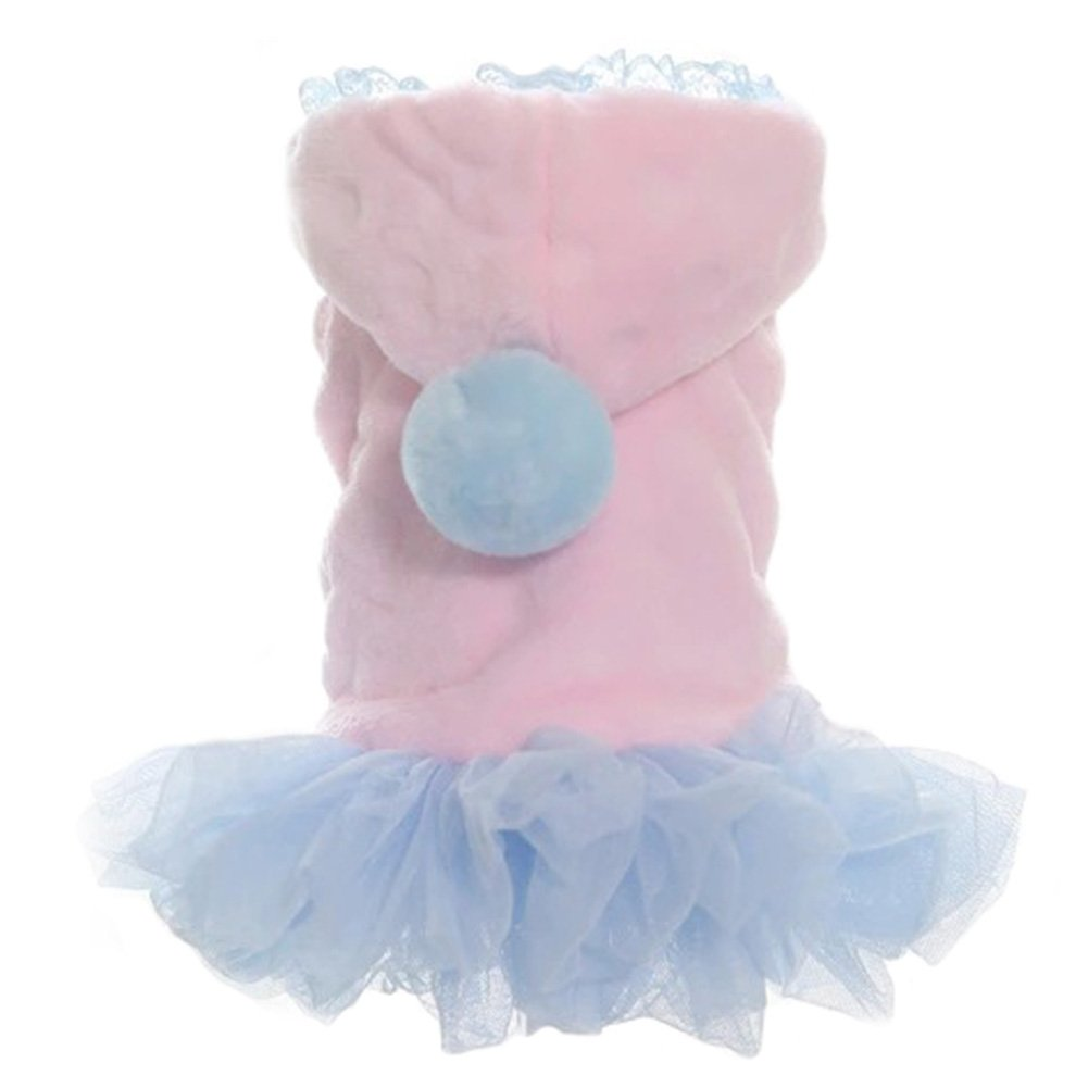 Creation Core Pet Costumes Dog Lovers Clothes Princess Plush Small Dog Winter Clothes(Pink,XL)