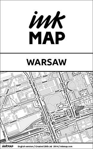 Warsaw Inkmap - maps for eReaders, sightseeing, museums, going out, hotels (English)