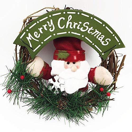 VietNewYear Pendant & Drop Ornaments - pcs Christmas Wreath Wood Christmas Garland Decor for Home Santa Snowman Tree Xmas Ornament Pendant Navidad 1 PCs (60 Tablets Reveal)
