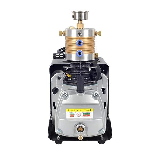 TOPQSC Ajustable Auto-Stop 300BAR 30MPA 4500PSI Compresor de aire de alta presión de la bomba de aire eléctrico para Airgate Rifle PCP Inflator: Amazon.es: ...