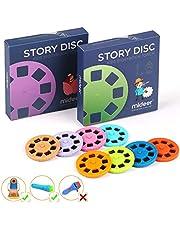 Story Disc 8 Fairy Tales Films 64 Slides voor Story Projectie Torch Story Film Vervanging voor Kinderen Slaap Story Projector Bedtime Story Toy Geweldig educatief speelgoed Gift voor jongens en meisjes (8 stuks)