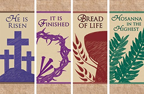 Easter Series X-Stand Church Banner  - Easter wall decorations