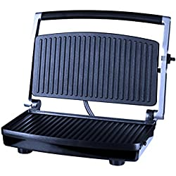 ZZ SM303 Burger Grill, Sandwich Maker, Panini Press, Steaks Griller or Grill, Silver