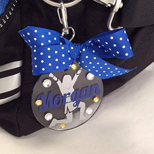 Cheerleader V-Up Bag Tag Personalized with Your Name and Your Colors]()