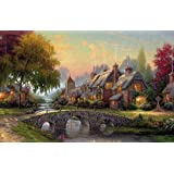 Jigsaw 1000 pieces Puzzle of Cobblestone-Bridge-By-Thomas-Kinkade by BOYER PUZZLE
